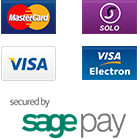 MasterCard, Solo, Visa, Visa Electron, secured by SagePay